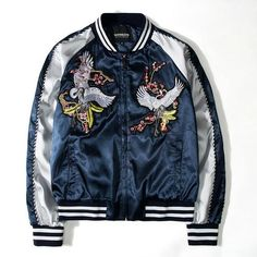 Want these trendy mens fashion style Estilo Harajuku, Streetwear, Harajuku Fashion, Harajuku Style, Embroidered Bomber Jacket, Stylish Mens Outfits, Stylish Menswear, Casual Outfits, Men Casual