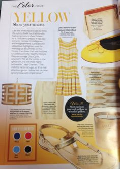 """""""Yellow has become synonymous with importance"""" - InStyle Check out our Hicks Pendant in this month's issue! #WorldsAway"""