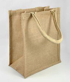 "9"" x 11"" x 4"" Jute Shopping Tote Bag - $3.15 | onlinefabricstore.net"