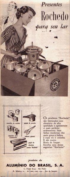 Jogo de panelas e utensilios domesticos Rochedo / anos 60
