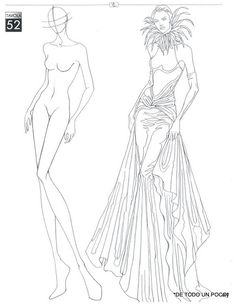 Project Draw The Line: 7 Minute Croquis Fashion Drawing Tutorial, Fashion Figure Drawing, Fashion Model Drawing, Fashion Design Sketchbook, Fashion Design Drawings, Fashion Sketches, Fashion Illustration Poses, Fashion Illustration Template, Fashion Figure Templates