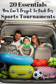 20 Essentials to Pack for Tournaments- Always be ready to hit the road for a travel or local sports tournament with this checklist of 20 essentials you just can't forget to pack. Whether it's baseball, softball, football, soccer, or something else, this list will help you remember all of the important items that are easily forgotten! #sportstournament #sportsmom #travelball #traveling #roadtrip
