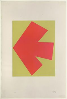 Ellsworth Kelly, Orange Over Green (A. 27)