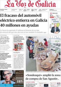 Los Titulares y Portadas de Noticias Destacadas Españolas del 13 de Octubre de 2013 del Diario La Voz de Galicia ¿Que le pareció esta Portada de este Diario Español?