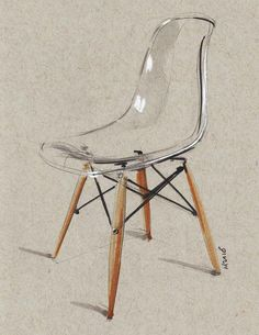 """Chair sketch"" by Miloradovic Vjekoslav."