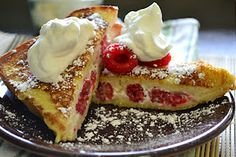 Raspberry and Cream Cheese French Toast
