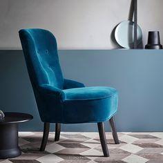 ikea remsta fauteuil djuparp vert bleu la forme du fauteuil offre un confort agr able. Black Bedroom Furniture Sets. Home Design Ideas