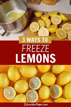 Lemons are super versatile when you're cooking from scratch. When lemons are in season, stock up and preserve them by the juice, slices, zest and even freezing them whole. Learn how to freeze and use frozen lemons in this step by step guide. Frozen Fruit, Frozen Meals, Fresh Fruit, Fresh Lemon Juice, Freezing Lemons, Freezing Fruit, Can You Freeze Lemons, Lemon Uses, Use Of Lemon