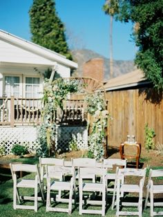 Backyard At-Home Wedding Inspiration | Apartment therapy, Backyard ...