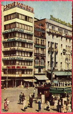 Hauptwache, Frankfurt am Main, Hesse, 1955 - Peter Nagel AK Frankfurt Germany, Munich, Maine, Postcards For Sale, Skate Park, Travel Abroad, Surrey, Places To Go, Beautiful Places