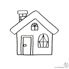 House with Fireplace coloring Disegno di Casa con Camino da colorare House with Fireplace coloring page - House Colouring Pages, Coloring Sheets, Coloring Pages, Easy Drawings For Kids, Drawing For Kids, Cartoon House, Embroidery Hoop Crafts, Shrink Art, Miniature Quilts