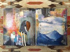 resurface journal spread // by bun // artist: roxanne coble