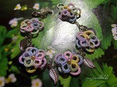 tatting lace  bracelet, frywolitkowa bransoletka