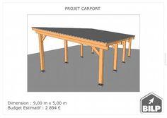 Le plan de votre CARPORT / PRÉAUX / AUVENT sur mesure Plan Carport, Simulation 3d, Ping Pong Table, Plans, Dining Bench, Furniture, Home Decor, Study Desk, Car Shed