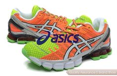 new products 515f5 11031 asics gelkinsei 4 womens orange green p 154