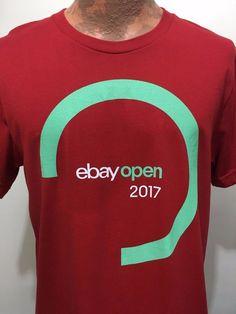 6fe2062b ebay Open 2017 Burgundy w Aqua Swirl Cotton T-Shirt Unisex L or XL NEW