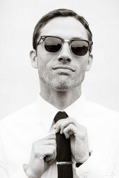 Sunglasses plus slim tie | Essentials (men's accessories) visit http://www.pinterest.com/davidos193/
