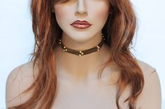 Simple Brown Suede Choker Necklace Everyday by Jewelshart, $30.00