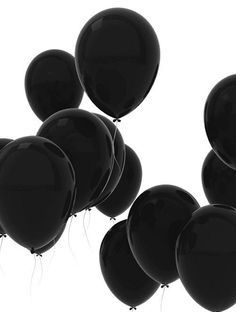 Black balloons - palloncini neri M. Drive-In Black Love, Back To Black, Black Is Beautiful, Color Black, Black White Art, Pretty Black, Matte Black, Beautiful Flowers, Preto Wallpaper