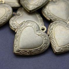 Vintage Heart Lockets - $1.95
