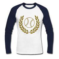 Langarmshirts ~ Männer Baseballshirt langarm ~ Baseballshirt langärmelig für Profi  und  Amateurspielerin weiß-schwarz - Baseball