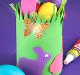 Green Bunny Basket