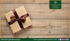 Let The Golden Palms Hotel & Spa surprise your guests with an eccentric gift at your wedding. Book your wedding with us! #WeddingWednesdays #WeddingPackages