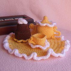 Free Ravelry Download. Ravelry: Mini Tea Set - Crochet pattern by CGW JoanitaTheron