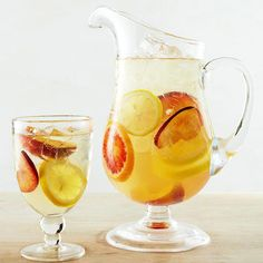 To make this Sweet Honey White Sangria we've combined brandy, honey, sparkling wine and citrus flavors.