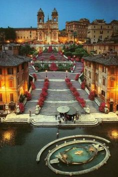 Spanish Steps, Rome, Italy - the widest staircase in Europe; IT-44185, chicca