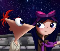 "Phineas and Ferb and its characters belongs to Dan Povenmire and Jeff ""Swampy"" Marsh. Artwork belongs to me IMPORTANT If you want to repost this pic, pl. Watch Phineas And Ferb, Phineas Und Ferb, Disney Plus, Disney And More, Ferb And Vanessa, Phineas E Isabella, Old School Cartoons, Pokemon Ships, Walt Disney Studios"