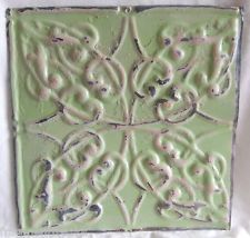 Architectural Antique Tin Ceiling Tiles Metal *SEE OUR SALVAGE VIDEOS* Green D3 (ebay)