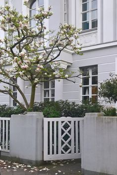 Love the historic wooden gate and fence in front yard of a classical building, Dusseldorf, Germany #fence #gate #altbau