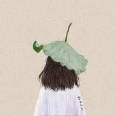 Cute Girl Drawing, Cute Drawings, People Illustration, Illustration Art, Back Art, Digital Art Girl, Aesthetic Themes, Aesthetic Drawing, Korean Art