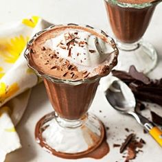 Frozen Hot Cocoa: Drink your dessert! For healthy version I'll make with CocoCeps, stevia, and almond milk