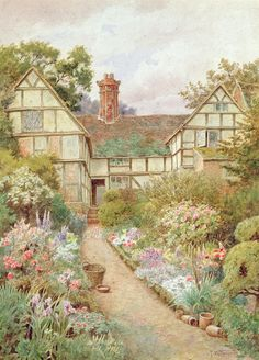 Cottage Garden Painting  - Tyndale