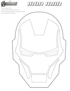Best superhero art for kids templates iron man Ideas Printable Halloween Masks, Printable Masks, Free Printable, Masque Iron Man, Iron Man Face, Iron Man Party, Avengers Coloring Pages, Iron Man Birthday, Iron Man Helmet