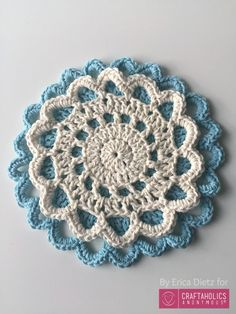How to crochet a doily || Free Pattern and tutorial on www.Craftaholicsanonymous.net
