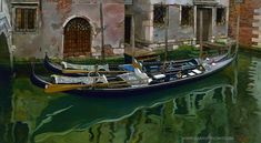 """The Art of Gabriel Picart"": 'L'Autunno a Venezia' (1998) Oil on panel, 27"" x 50"" / 68,5 x 127 cm."