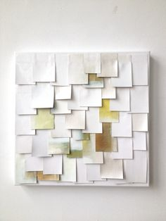 Large Canvas, painted paper squares, some with or without texture, layered paper… Origami, Painted Paper, Textures Patterns, Love Art, Diy Art, Art Boards, Collage Art, Design Art, Interior Design