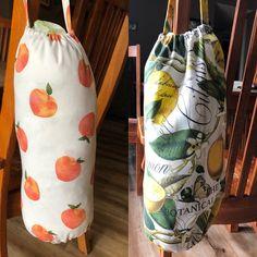 Bag Bags grocery bag storage Lemons Peaches   Etsy Grocery Bag Storage, Overlock Machine, Wash N Dry, Peaches, Cotton Fabric, Lemon, Sewing, Bags, Etsy