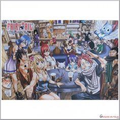 Très beau poster inspiré de l'anime Fairy Tail.