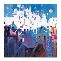 Eurovillas by Catherine Fitzgerald Painting Print on Canvas