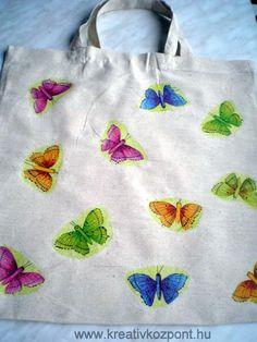 Textil decoupage - Tavaszi minta Decoupage, Textiles, Tote Bag, Kitchen, Diy, Bags, Collection, Handbags, Cooking