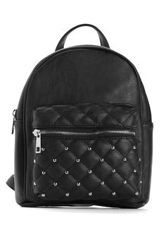 Black Mini Quilted Backpack | windsor