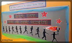 Cumhuriyet Bayramı panosu, materyal, ilkokul pano, ilkokul materyal, Cumhuriyet Bayramı, sınıf panosu, okul süsleme, sınıf süsleme, 29 Ekim Cumhuriyet Bayramı, Atatürk, Meşale, Atatürk köşesi, Sınıf Kapısı Süsleme,