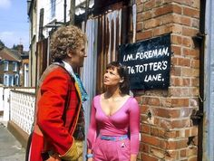 6th doctor seeing the name Foreman and thinking of his granddaughter Susan....
