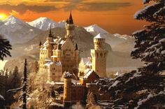 Neuschwanstein the model for Sleeping Beauty Castle
