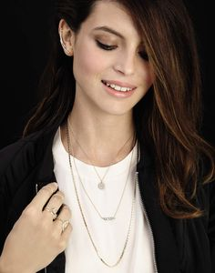 Team delicate #layeredjewellery with chic mono shades. #AW14