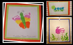 handprint / footprint projects @ Toddler Time Tips @ https://www.facebook.com/toddlertimetips